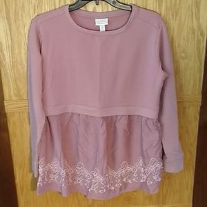 Isabel Maternity Sweater embroidered